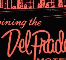 Vintage Detroit Del Prado Motel Ad Sticker