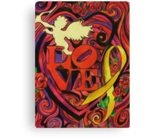 """""""Love and Liberty""""  A Valentines Card Fundraiser to benefit our veterans Canvas Print"""