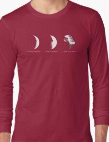 """That's no moon/bulk Long Sleeve T-Shirt"