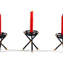 Three Red Candles by caru