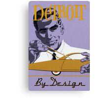 Vintage Detroit Design  Canvas Print