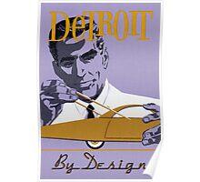 Vintage Detroit Design  Poster
