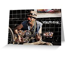 Music lives in the Streets Greeting Card