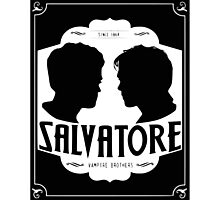 The vampire diaries-Salvatore Brothers Photographic Print