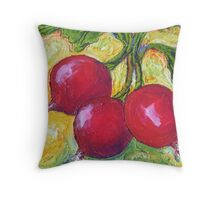 Red Radishes Throw Pillow