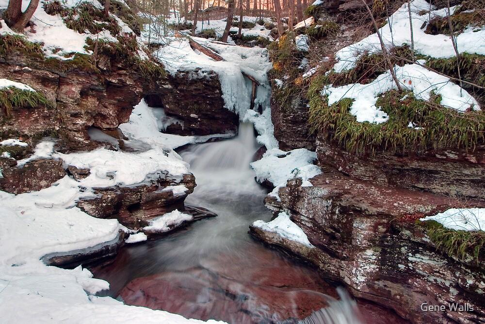 Winter Still Has Its Grip On Adams Falls by Gene Walls
