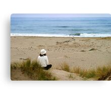 Watching The Ocean Canvas Print