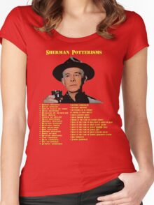 Sherman Potterisms Women's Fitted Scoop T-Shirt