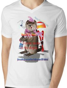 Groundhog Day-6 more weeks Mens V-Neck T-Shirt