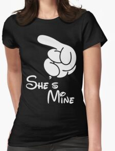 She's Mine Womens Fitted T-Shirt