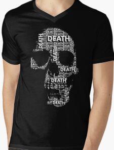 DEATH SKULL Mens V-Neck T-Shirt