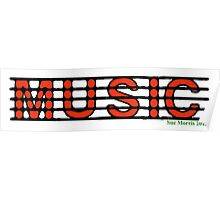 Music Red Poster