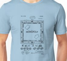 Patent Of Monopoly Game In Black Version Unisex T-Shirt