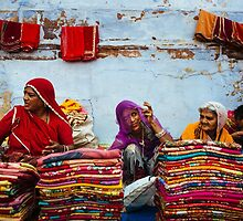 Saris in Jodhpur by Lidia D'Opera