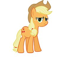 Applejack is not amused no text Photographic Print