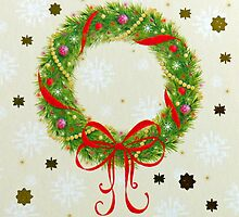 Christmas Wreath by Susan S. Kline