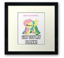 Fluttershy Flank Framed Print
