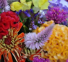 FARMERS MARKET FLOWERS by Christine Sullivan