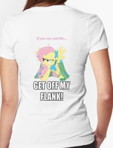 Fluttershy Flank Womens Fitted T-Shirt