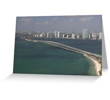 Miami: Rickenbacker Causeway Greeting Card