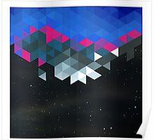 Polygons versus Galaxy Legging Space Poster
