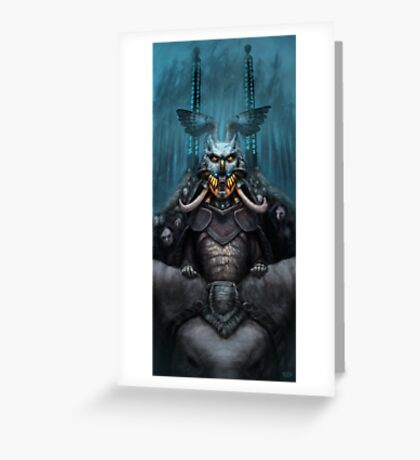 The Wizard's Hat and the Mechanical Man Greeting Card