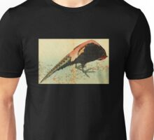 'A Pheasant on the Snow' by Katsushika Hokusai (Reproduction) Unisex T-Shirt