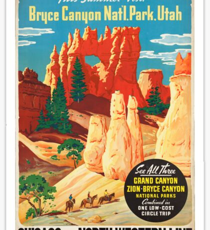 Vintage poster - Bryce Canyon Sticker