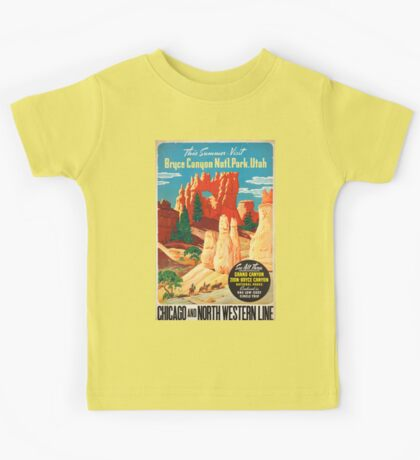 Vintage poster - Bryce Canyon Kids Tee