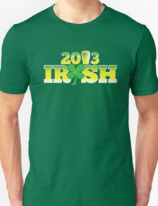 Official 2013 IRISH Shirt with beer pint and a shamrock T-Shirt