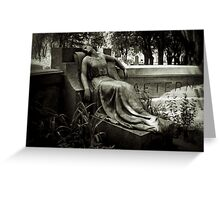 I am Stretched on Your Grave Greeting Card