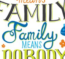 Lilo and Stitch Ohana Typography Quote Sticker