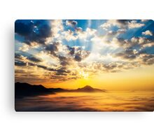 Sea of clouds on sunrise Canvas Print