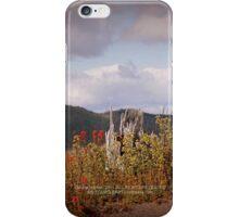 shattered tree & paintbrush wildflowers on Johnston's Ridge iPhone Case/Skin