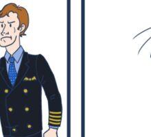 Captain Dons Cap Sticker