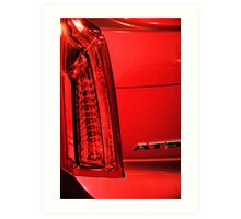 Cadillac ATS in Red Art Print