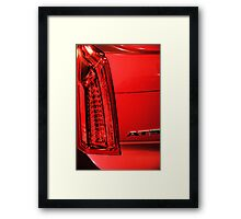 Cadillac ATS in Red Framed Print