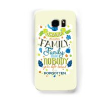 Lilo and Stitch Ohana Typography Quote Samsung Galaxy Case/Skin