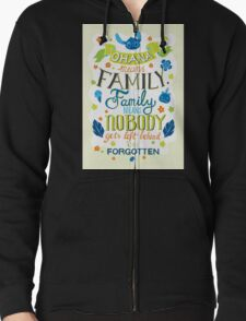 Lilo and Stitch Ohana Typography Quote T-Shirt