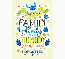 Lilo and Stitch Ohana Typography Quote Unisex T-Shirt