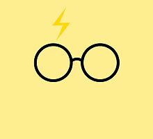 Harry Potter - Minimalist (Hufflepuff Yellow) by runswithwolves