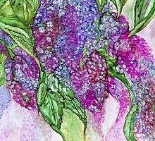 Lilacs Flowing by Carol  Cavalaris