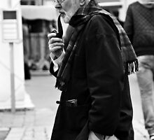 Man with pipe by Karen E Camilleri