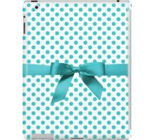 Blue Tiffany Polkadot Ribbon iPad Case/Skin