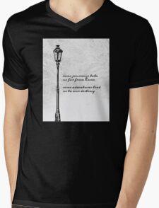 Narnia Lamp Post Mens V-Neck T-Shirt