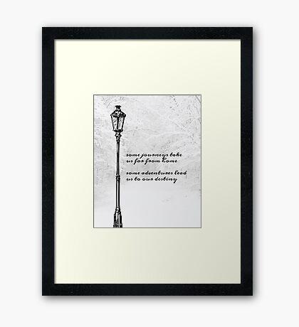 Narnia Lamp Post Framed Print