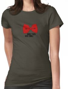 Bow Tie Womens Fitted T-Shirt