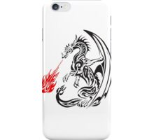 tribal dragon blasting fire iPhone Case/Skin