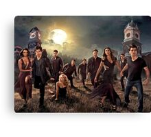 The vampire diaries-cast Canvas Print