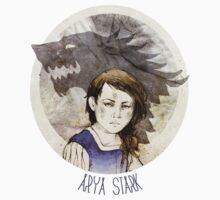 Arya Stark · t-shirt by Elia Mervi